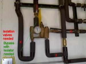 Plumbing valve in Haines City truck stop